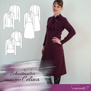 Schnittmuster: Schluppenkleid Celina — Gr. 34 — 44