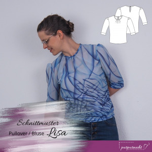 Schnittmuster: Kurzpullover / Bluse Lisa — Gr. 34–44