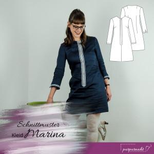 Schnittmuster: 60s Kleid Marina — Gr. 34–44