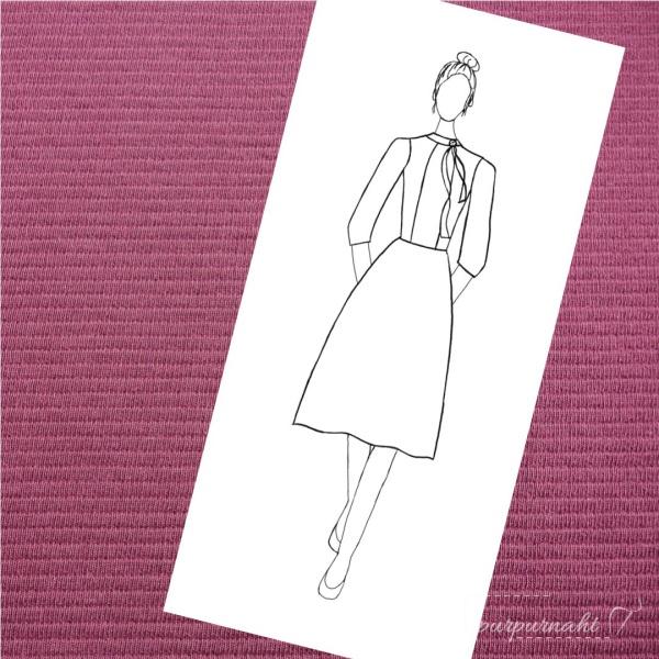 Skizze des Kleids