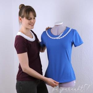 T‑Shirt mit Kragen — Schnittmuster-Freebook