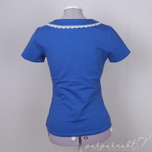 blaues T-Shirt - Rückenansicht