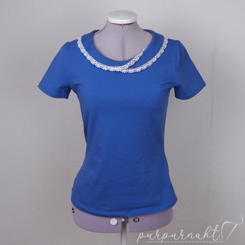 blaues T-Shirt - Vorderansicht