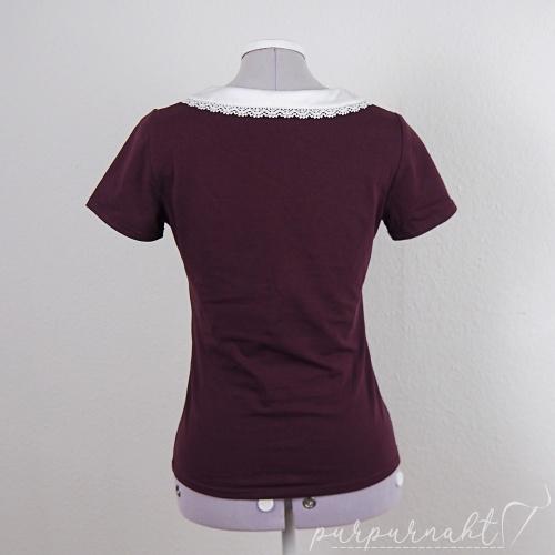 rotes T-Shirt - Rückenansicht
